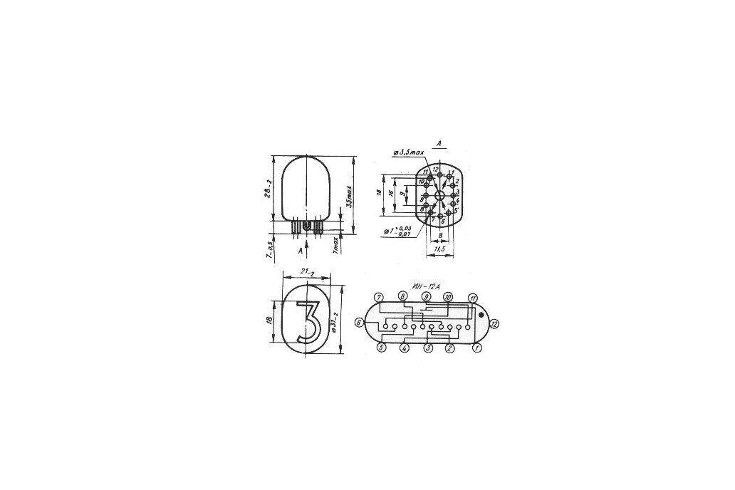 Nixie Clock Tubes IN-12B  set of 6 pcs 4