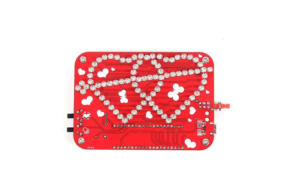 RGB LED Heart-Shaped Flashing Light Kit (13054) 2