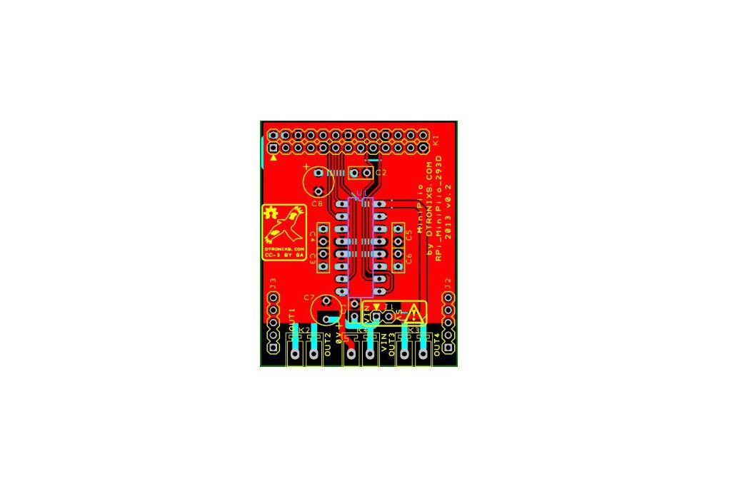 Raspberry PIIO - Motor293D board (PCB only) 1