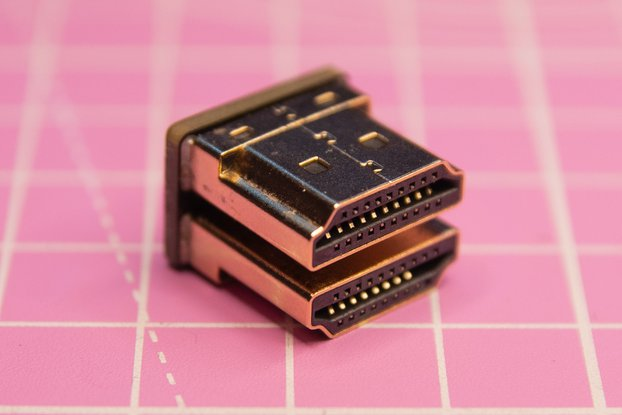 Low profile HDMI 180 angle connector Male to Male