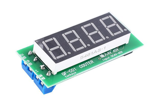 4Bit Red Digital Display Trigger Counter (15147)