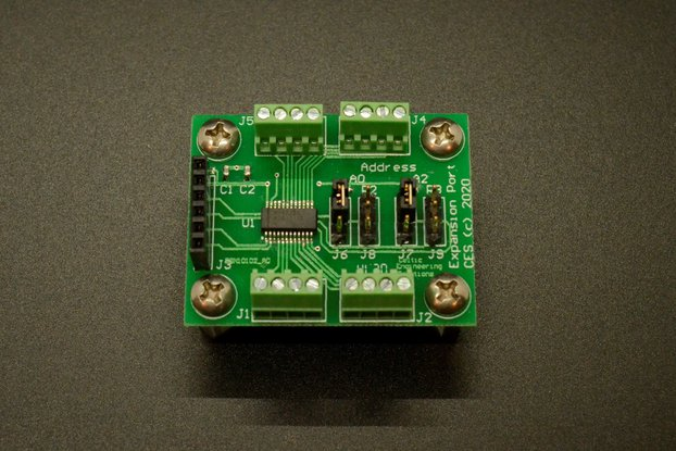 I2C Port Expander Board for Microcontrollers