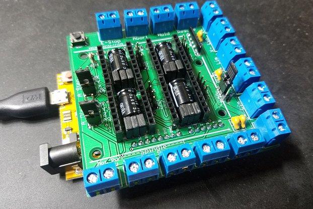 GRBLDuino Shield - GRBL 1.1 Arduino CNC Controller