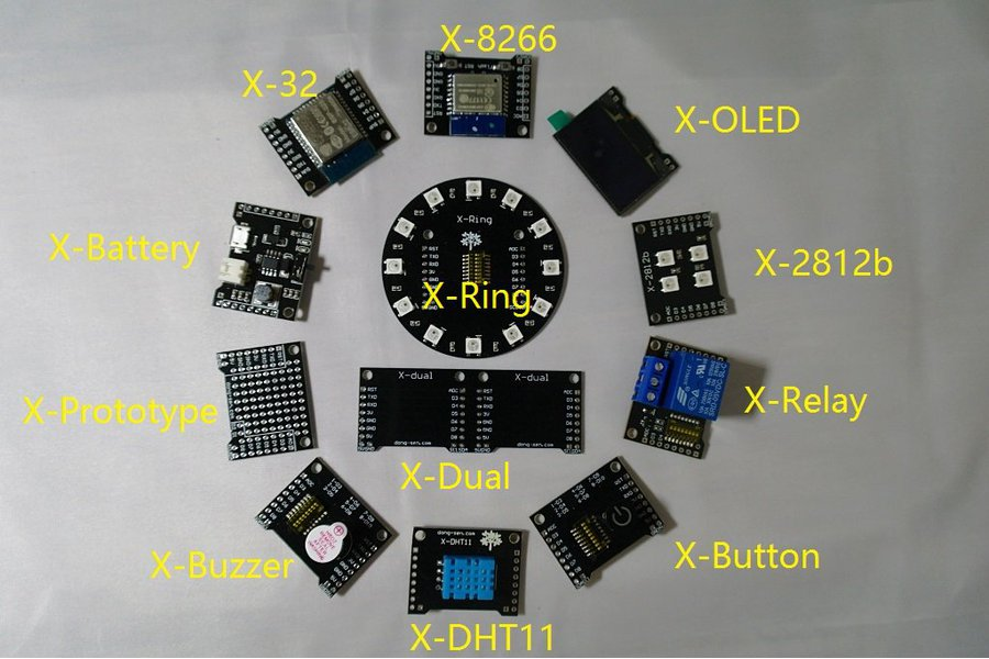 X-Project Starter Kit(ESP8266&ESP32)