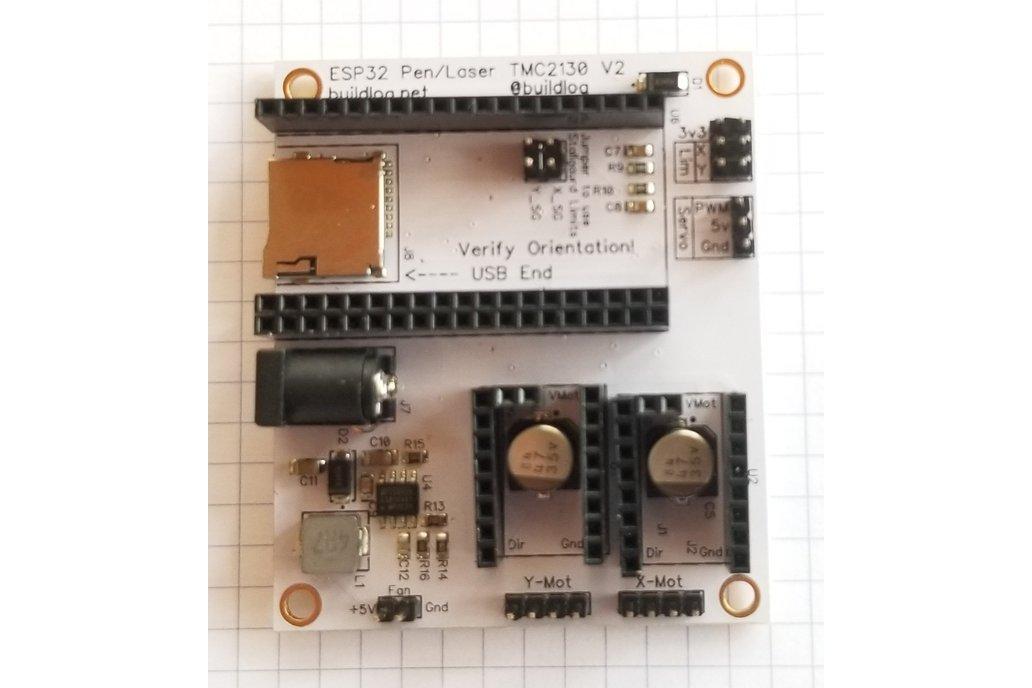 Pen Plotter Controller for ESP32 & TMC2130 V2 1
