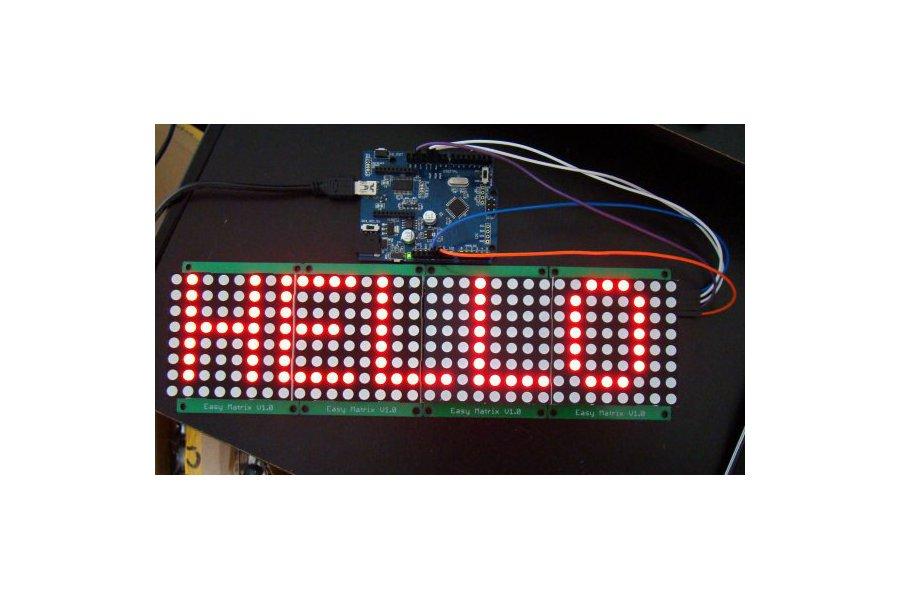 Easy Matrix: A cascadable LED matrix module (Kit)