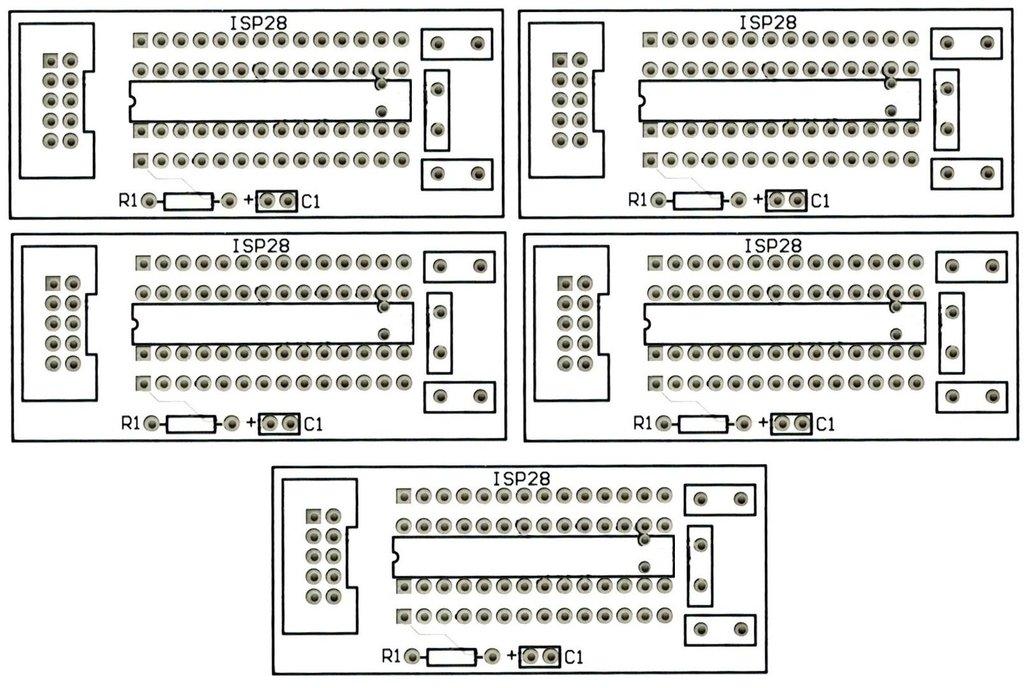 5PCS ATmega 28 Pin Breakout Boards Free Shipping 1