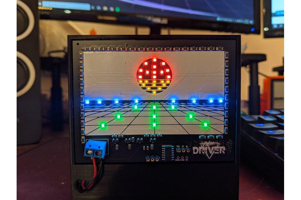 Pulse Driver Cyberpunk LED PCB Desk Ornament 1