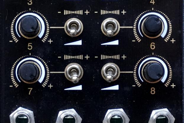 MixVert8r 8-channels Attenuverter mixer