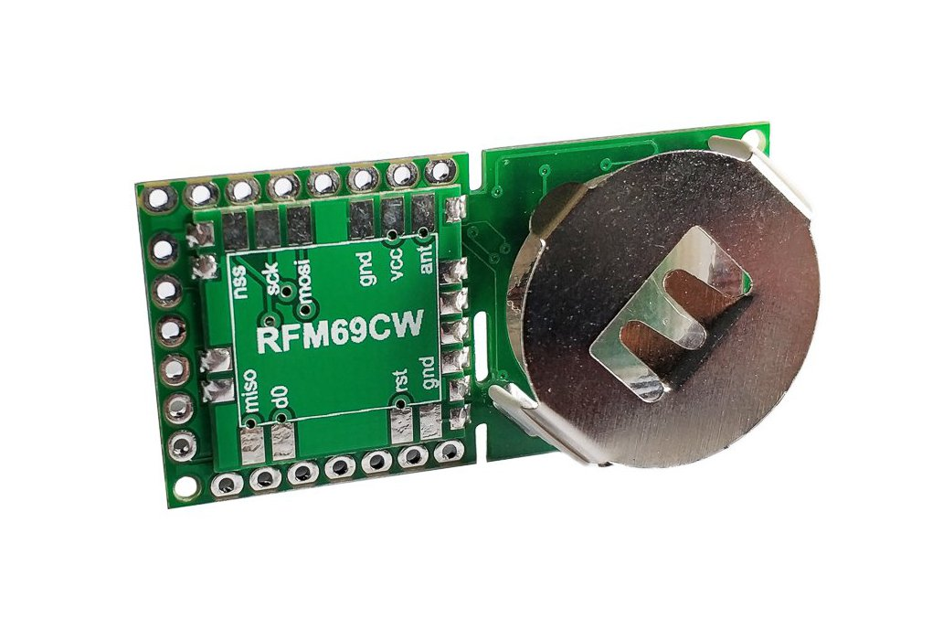 Button Sized RFM69 Wireless Node Ver 2 2