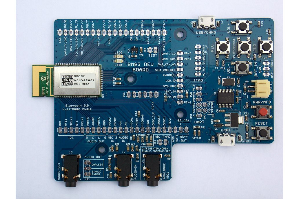 BM83 Bluetooth 5.0 Dual-Mode Development Board 1