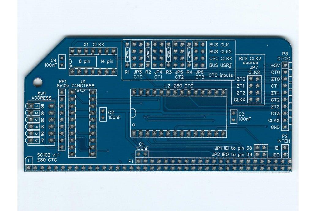 SC102 Z80 CTC Board for RC2014 5