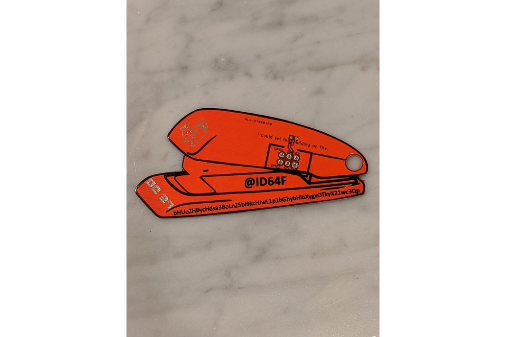 "Team ID64F ""Red Stapler"" Badge SAO 1"