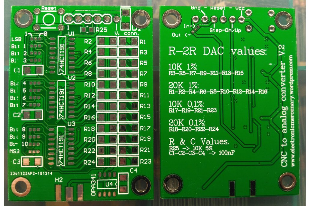 CNC to analog converter. (bare board) 1