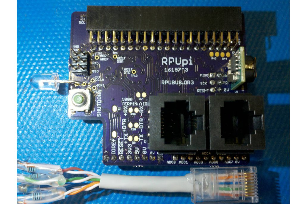 RPUpi - a shield for Pi Zero and RS-422 over CAT5 1