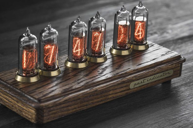 Vostok-2 ash Nixie tube clock