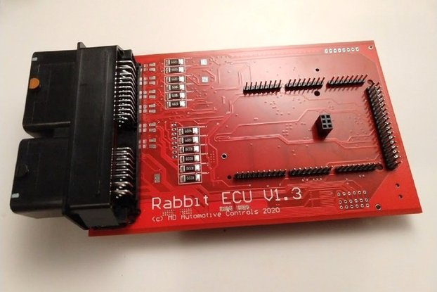 Rabbit ECU V1.3 Populated PCB with Arduino Sockets
