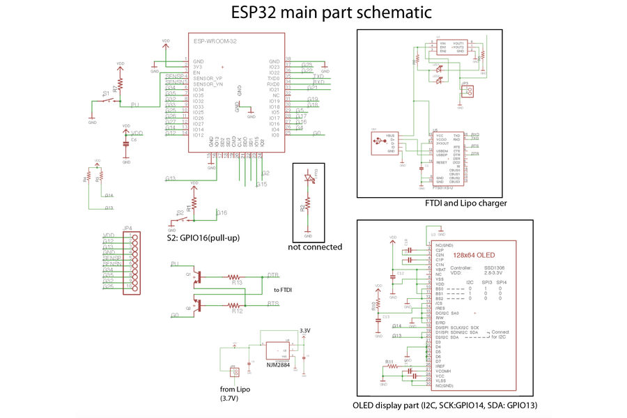 esp32 monster board  ether  can  oled all in one from