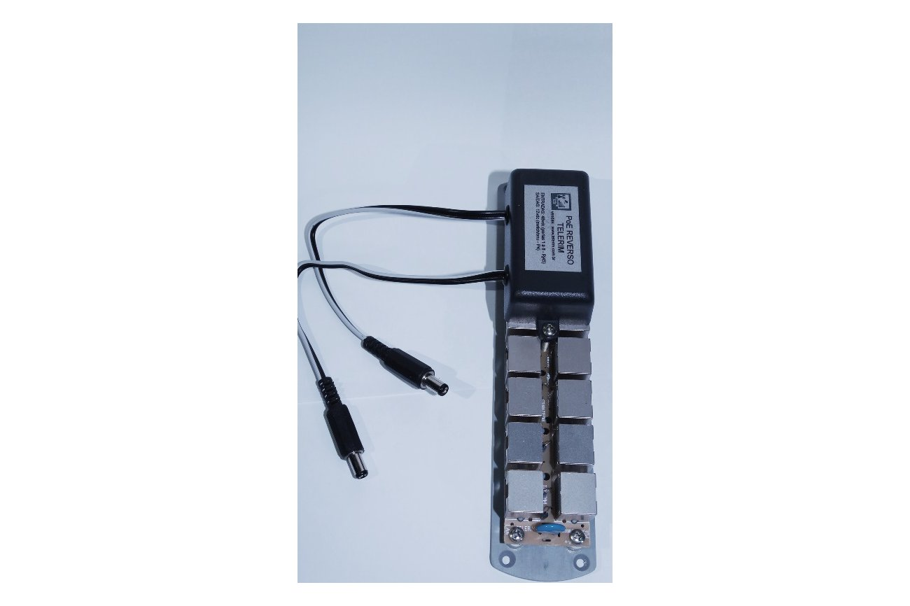 Reverse Power over Ethernet Adapter with 8 Inputs
