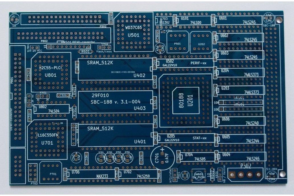 SBC-188 rev3.1 - 4 layer PCB board 80C188 1