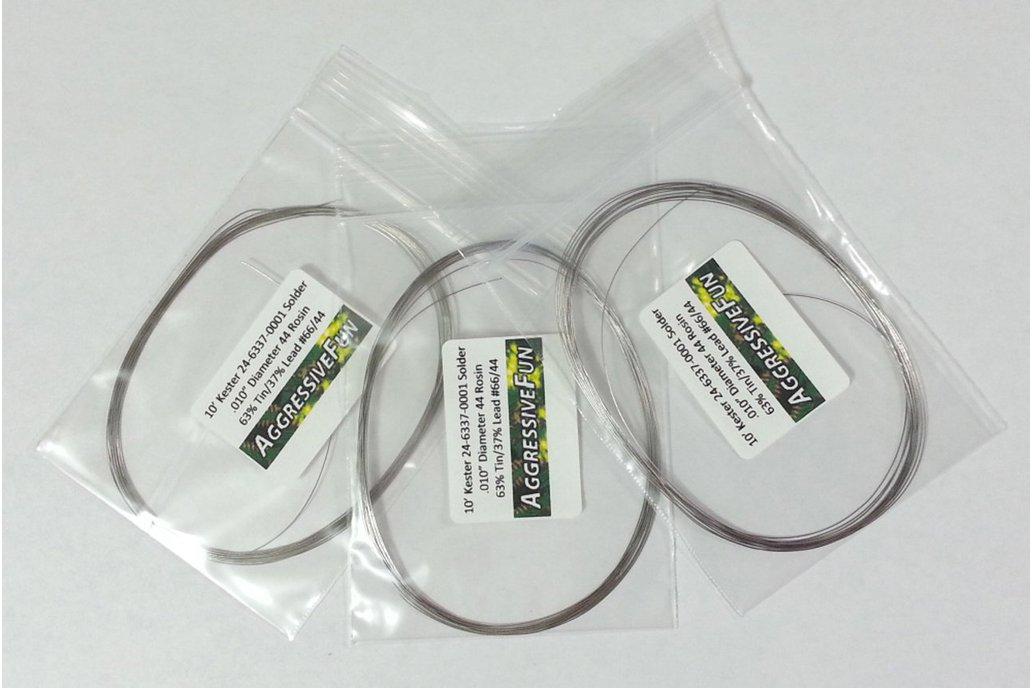"""30ft Kester Solder .010"""" 63/37 Tin Lead Rosin Core 1"""