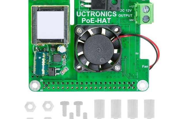 PoE HAT 5V 3A with Cooling Fan