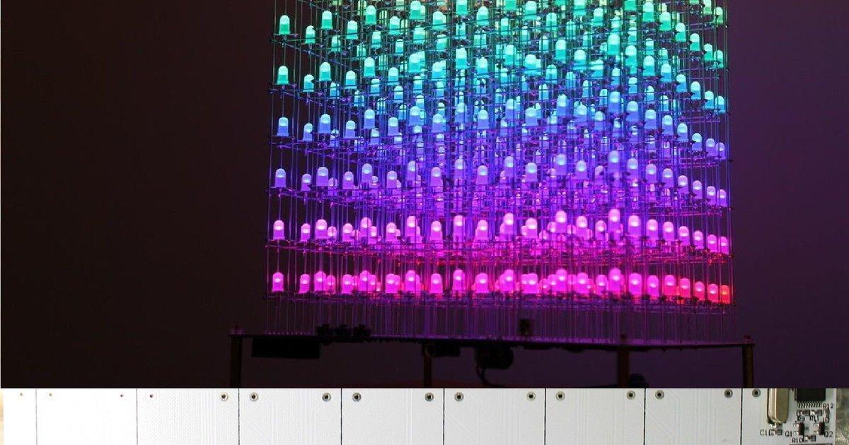 Diy Kit Auracube 8x8x8 Led Cube 3d Full Color From Nixt Clock On