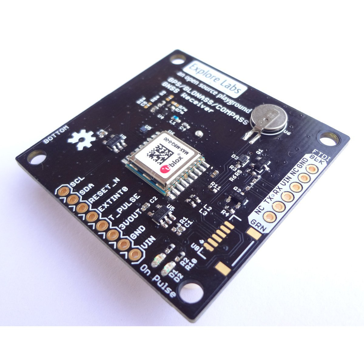 GPS Receiver - ublox MAX-M8Q (72 Channel) from Explore Labs