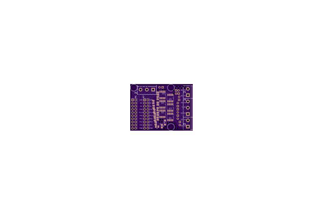 6 EXTRA channel injector driver PCB 1