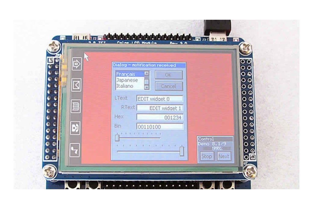 "Development board MINI V3 STM32F103RBT6(development board ) with 2.8"" TFT-module 1"