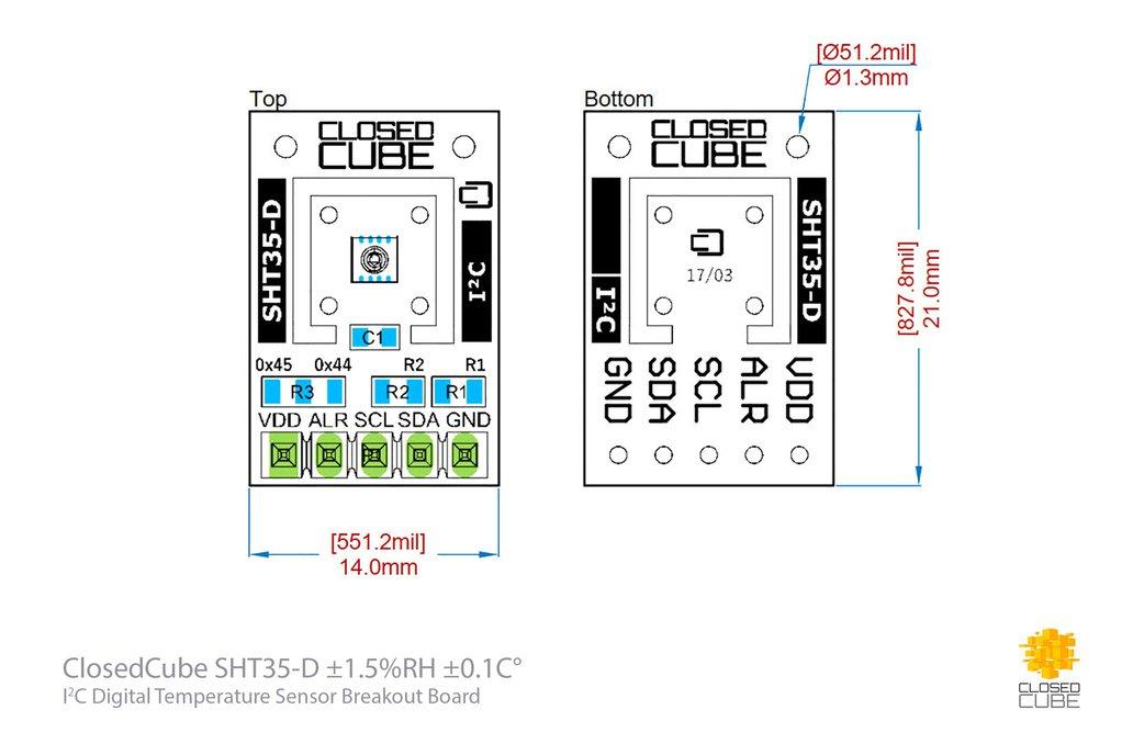 SHT35-D (Digital) Humidity & Temperature Sensor 6