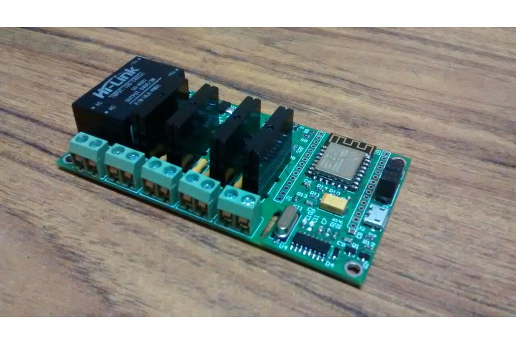 ESP8266 WiFi Quad SSR Board with 4 SSR for IOT 4