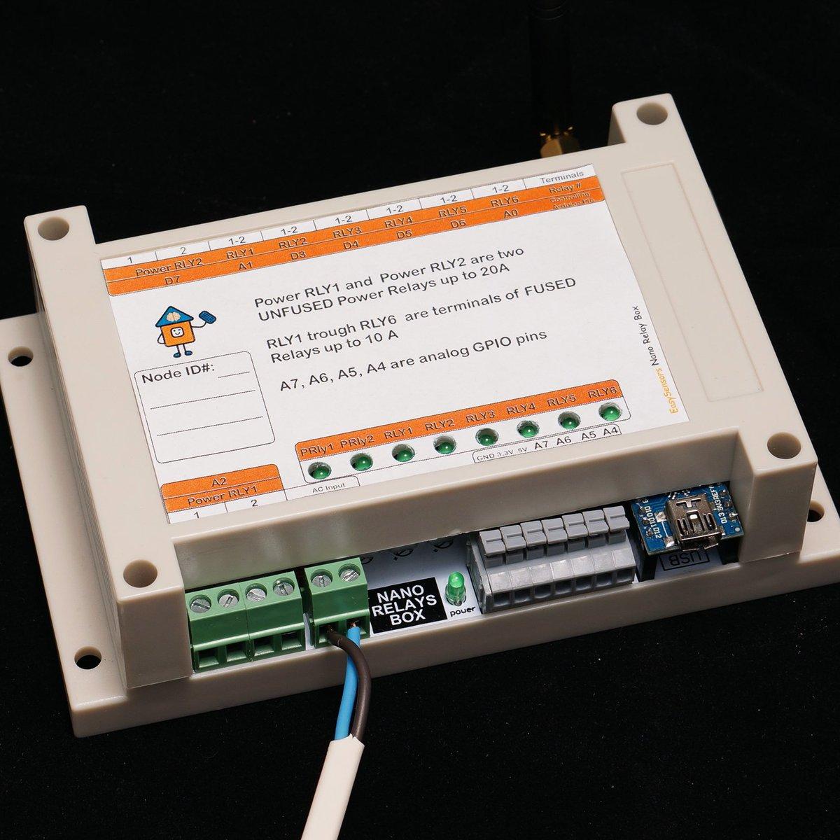 Arduino Nano 8 Relay Board wireless RFM69/95 NRF24 from easySensors