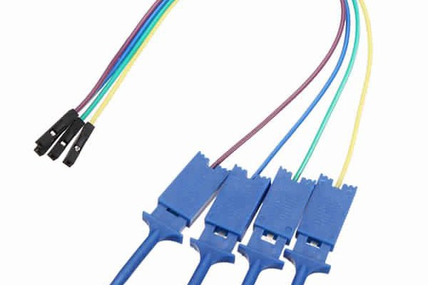 12Pc Test Clamp Wire Hook for Logic Analyzer