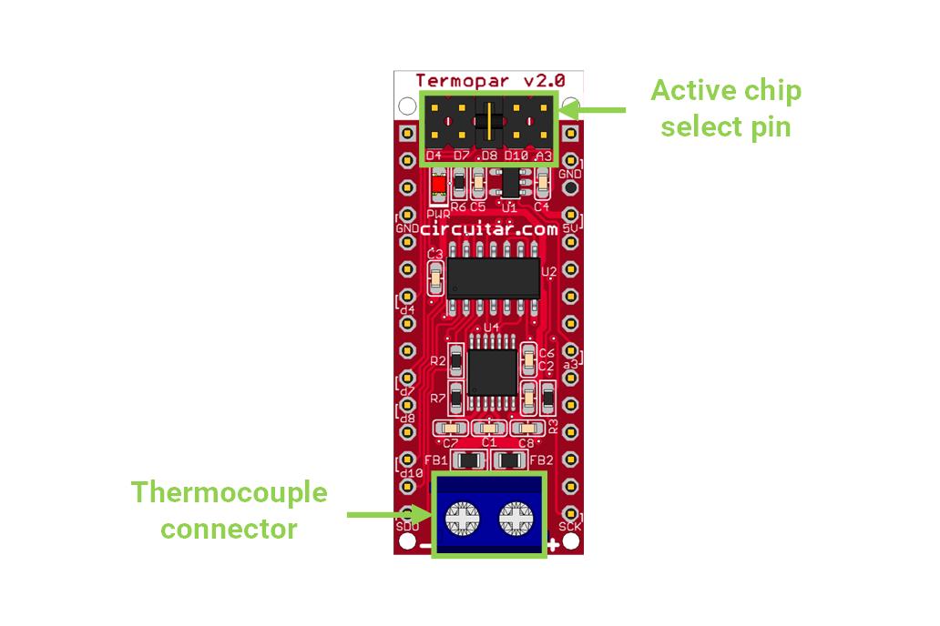 Termopar Nanoshield - MAX31856 Thermocouple Module 5