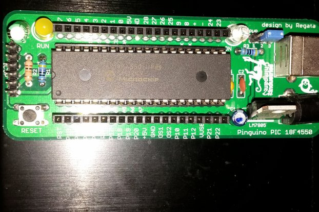 PINGUINO PIC18F4550 DEV BOARD