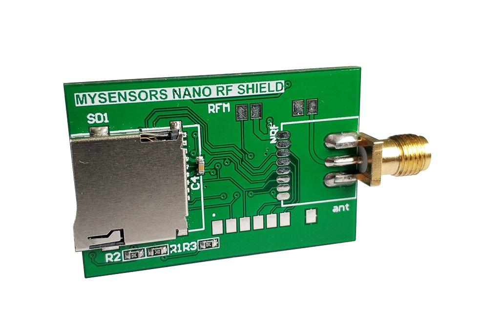 Arduino Nano radio shield for RFM 69 or NRF24L01+ 3