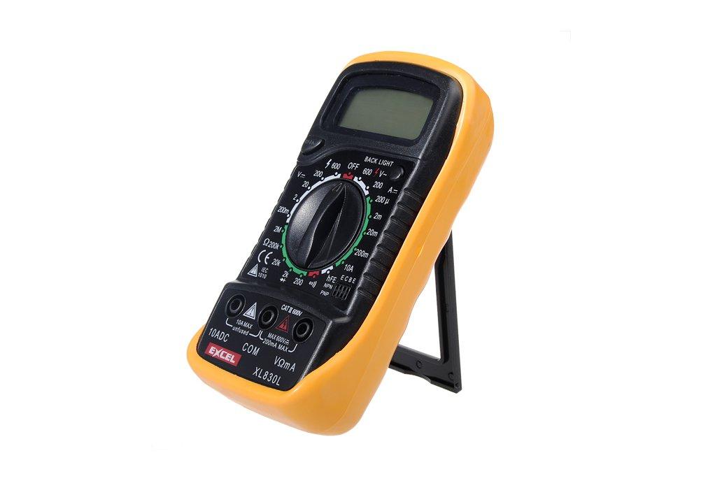 LCD Digital Voltmeter Ohmmeter Ammeter Tester 3