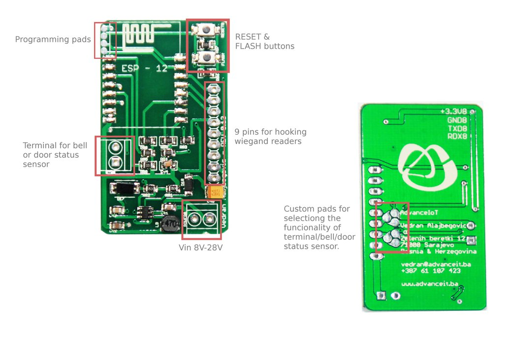 ESP RFID board for wiegand readers at (5V to 12V) 2