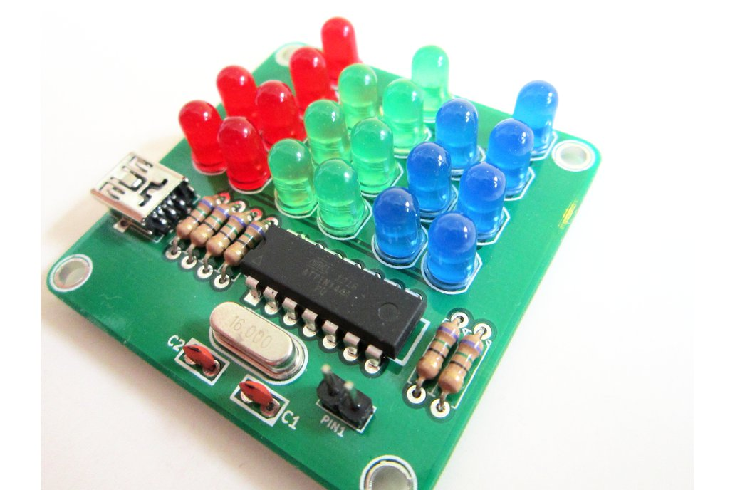 Binary Clock Kit with Red, Green and Blue Lights 3