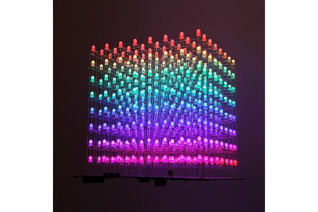 DIY Electronic Kit AuraCube 8x8x8 3D RGB LED Cube 1