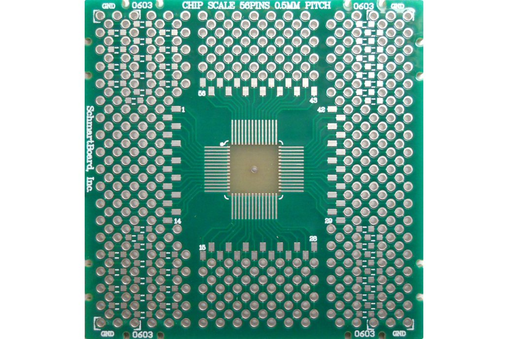 SchmartBoard|ez QFN/DFN 56 Pins 0.5mm Pitch PCB 1