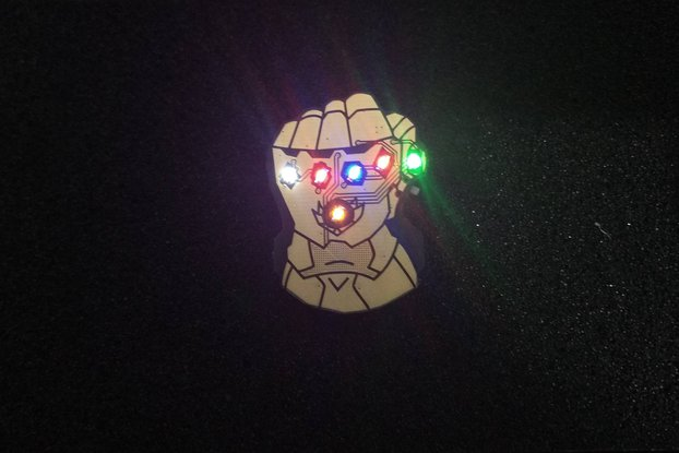 Infinity Fist Pin Badge