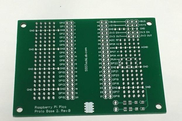 Prototype Base PCB for Raspberry Pi Pico