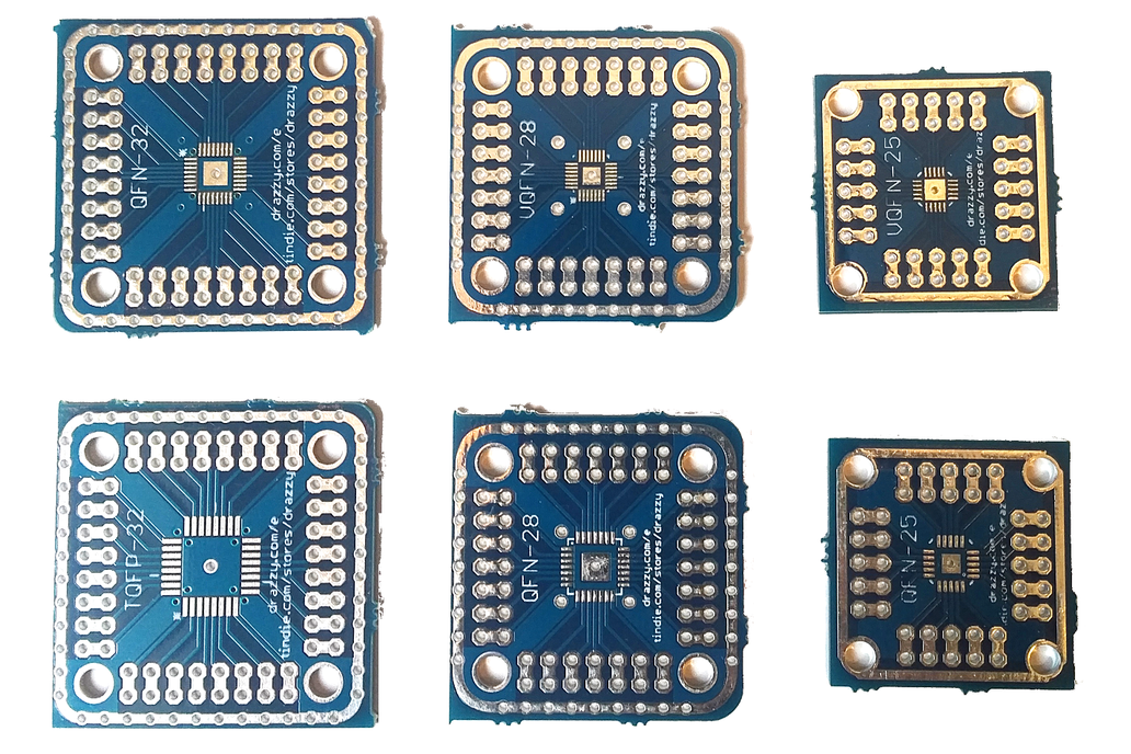 Breakout boards for QFN/VQFN/MLF SMD parts 1