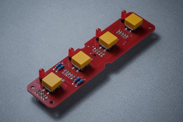 BL41 - 4 (4x1) tactile buttons + LED module
