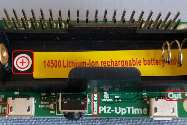 Pi-Zero-UpTime. UPS for Pi in Pi-Zero size.