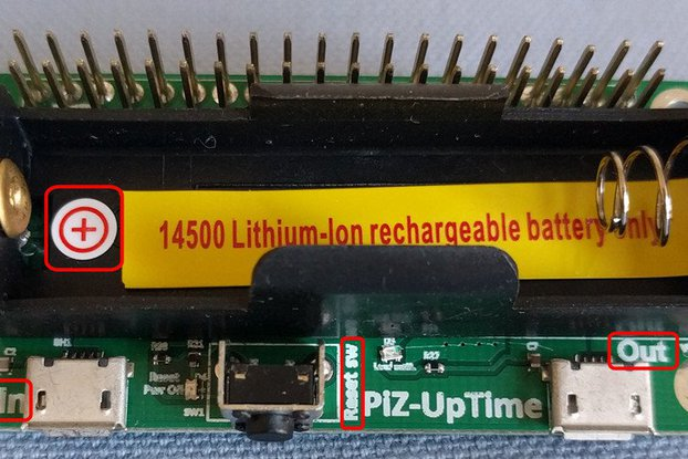 Pi-Zero-UpTime: UPS for Pi in Pi-Zero size.
