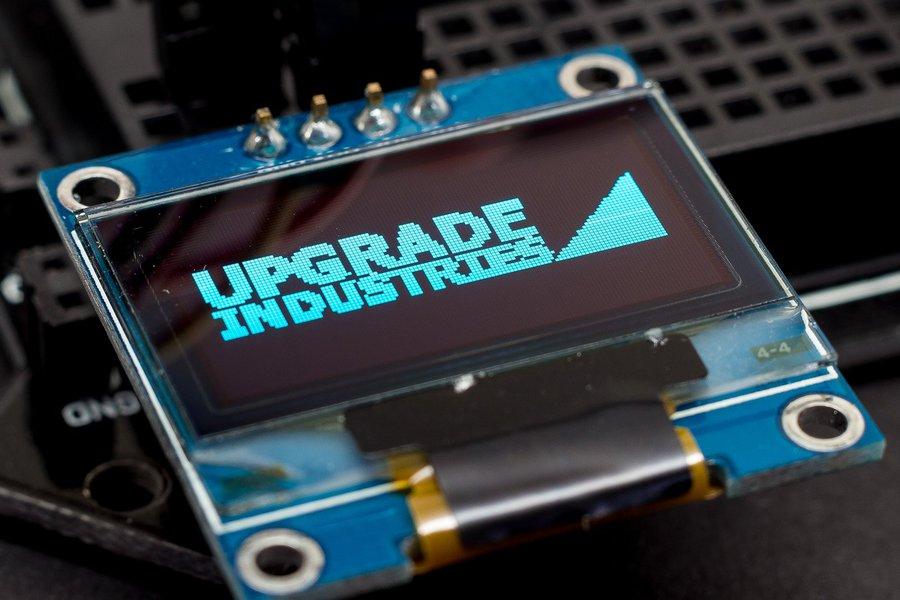 128x64 Blue I2C OLED Display - 0.96 inch