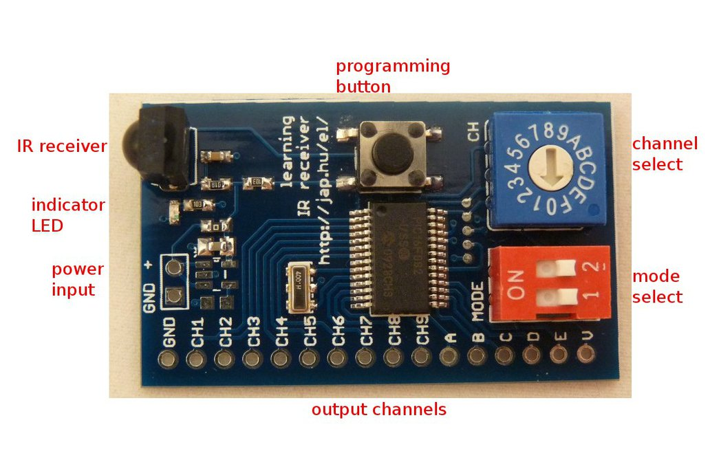 Learning infrared remote control receiver 1
